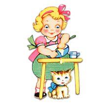 210x210 Free Vintage Clip Art Tag Set Girls Clips, Clip Art And Vintage