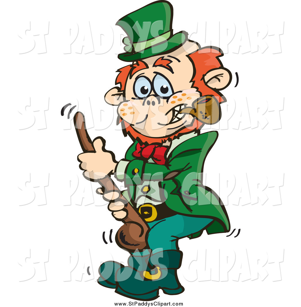 1024x1044 Vector Clip Art Of A St Paddys Day Leprechaun Holding A Shalaylee