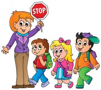 353x315 Girl Walking To School Clipart