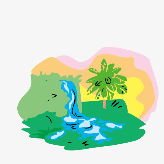 567x567 Green Waterfall, Vector, Waterfall, River Png And Vector For Free