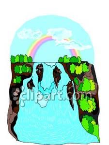 225x300 Rainbow Over A Waterfall