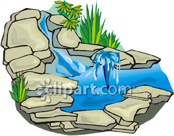 350x273 Stone Waterfall For A Garden Or Yard