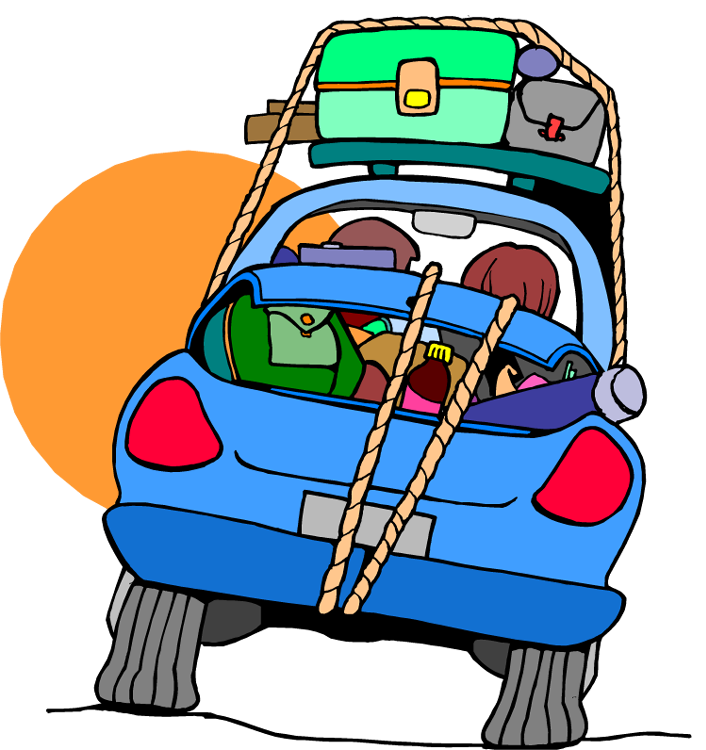 706x750 Clip Art Car Vacation