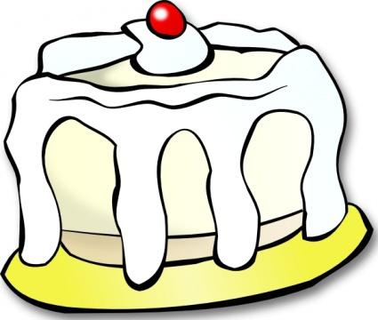 425x360 Clip Art Dessert Cake Clipart