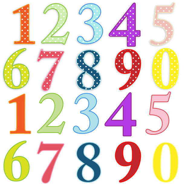 612x615 Numbers Colorful Clip Art Free Stock Photo