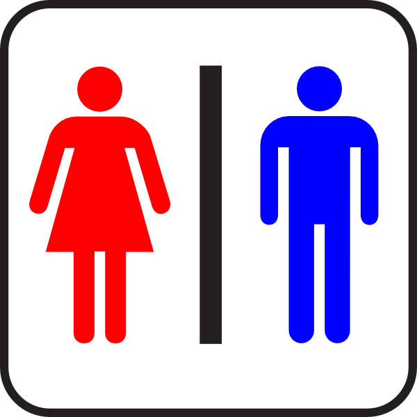 600x600 Colored Sign Bathroom Wc Man Amp Woman Clip Art