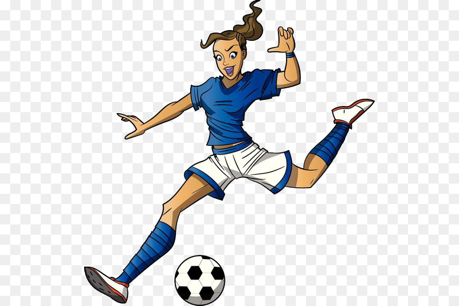 900x600 Football Player Cartoon Girl Clip Art