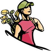 170x170 Strikingly Ladies Golf Clip Art Lady Golfer Images Free Download