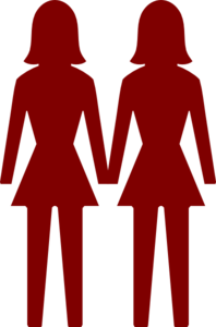 198x300 Two Women Clip Art