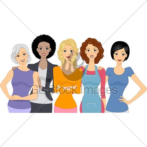 500x500 Free Diversity Professional Women Clip Art
