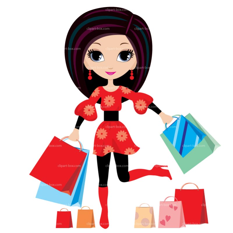 800x800 Clipart Of Girl Shopping Fashion Girls Clip Art Free Vector