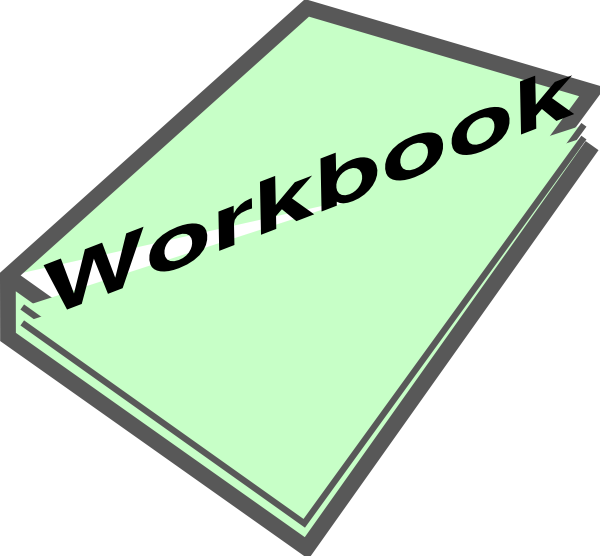 600x556 Workbook Pic Green Clip Art