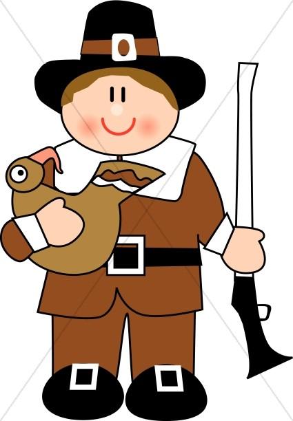 425x612 Cute Pilgrim Man Thanksgiving Clipart