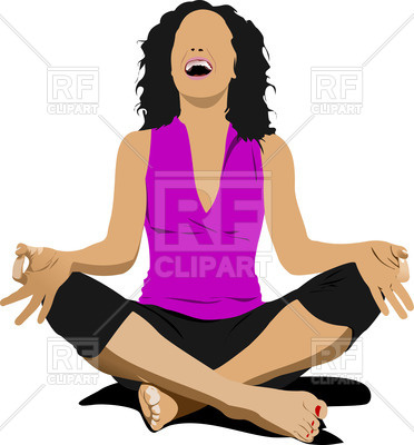 372x400 Woman In Yoga Pose Royalty Free Vector Clip Art Image