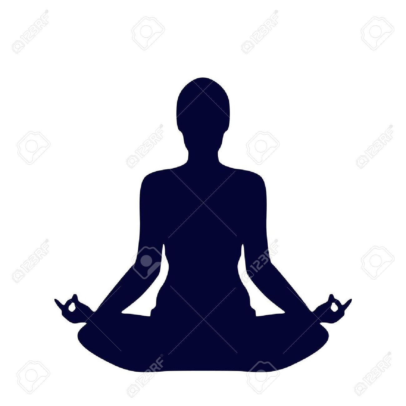 1300x1300 Yoga Clipart Black And White Yoga Silhouette Yoga Pose Of Standing