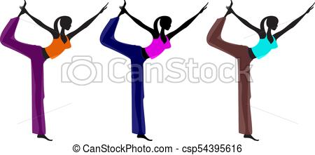 450x221 Yoga Girl Vector Clip Art