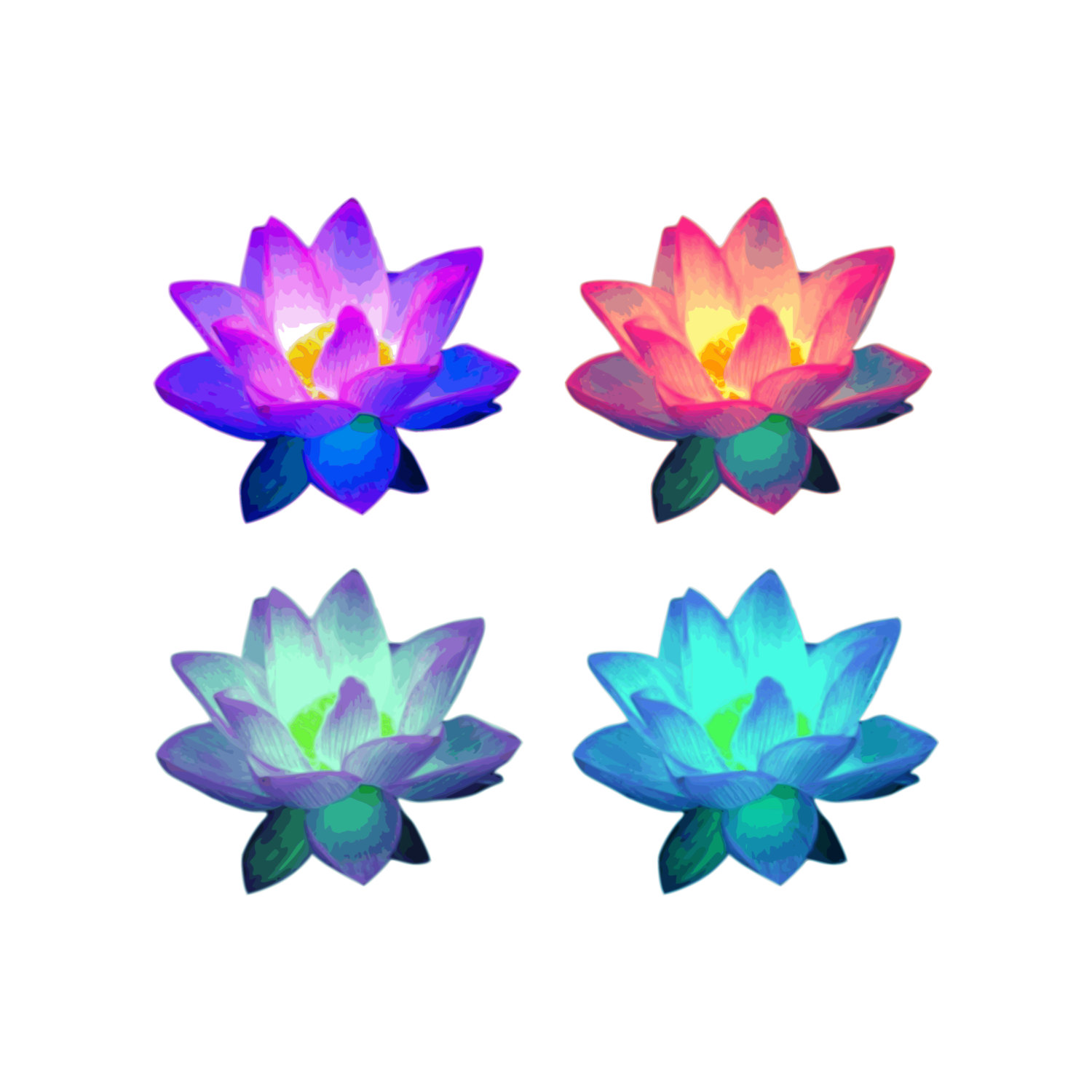 1500x1500 Lotus Flower Clip Art Lotus Flowers Lotus Clipart Lotus