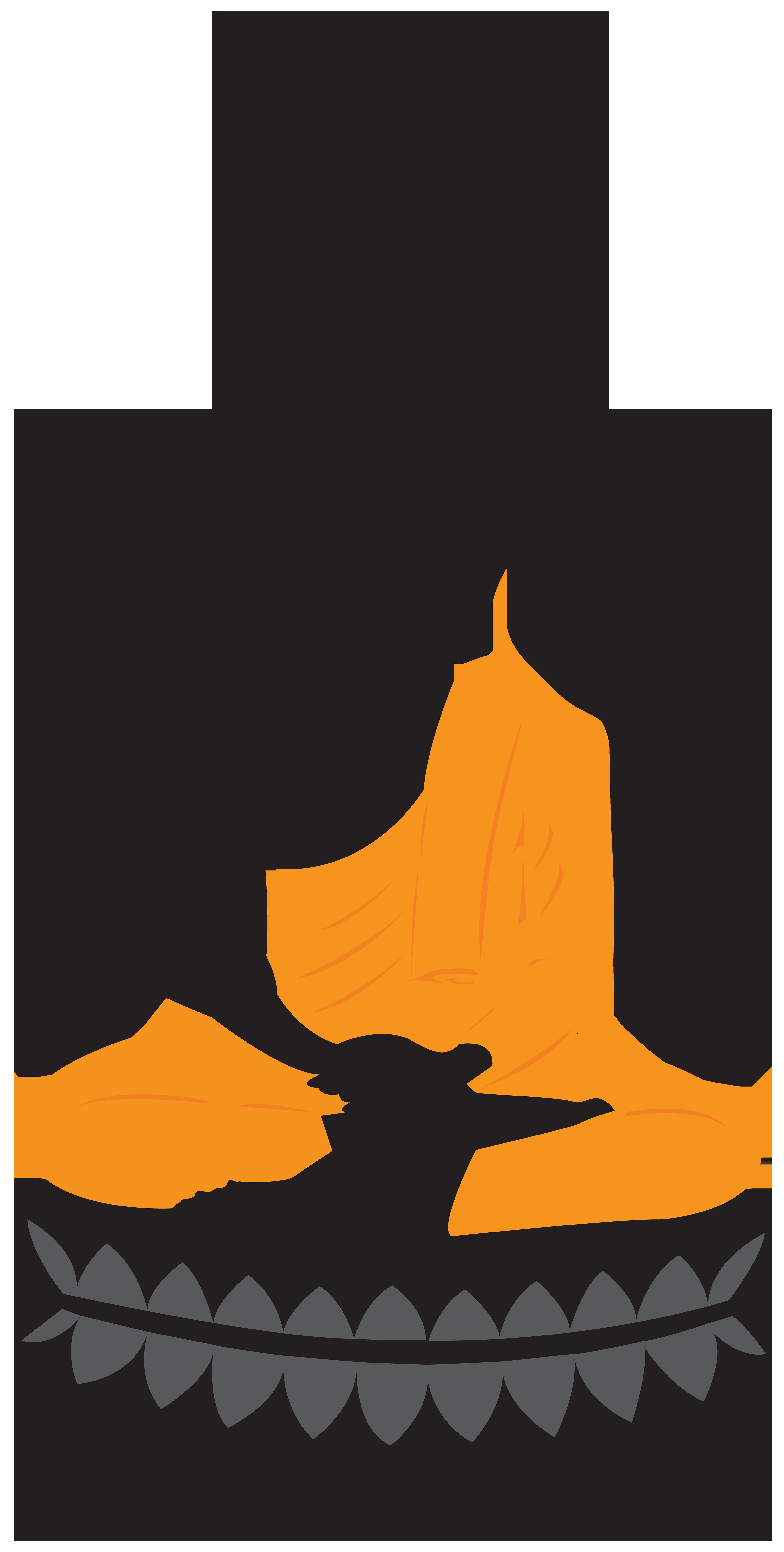 4045x8000 Buddha Lotus Statue Png Clip Art