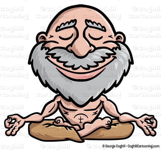 540x505 Cartoon Meditating Guru Clip Art Stock Illustration