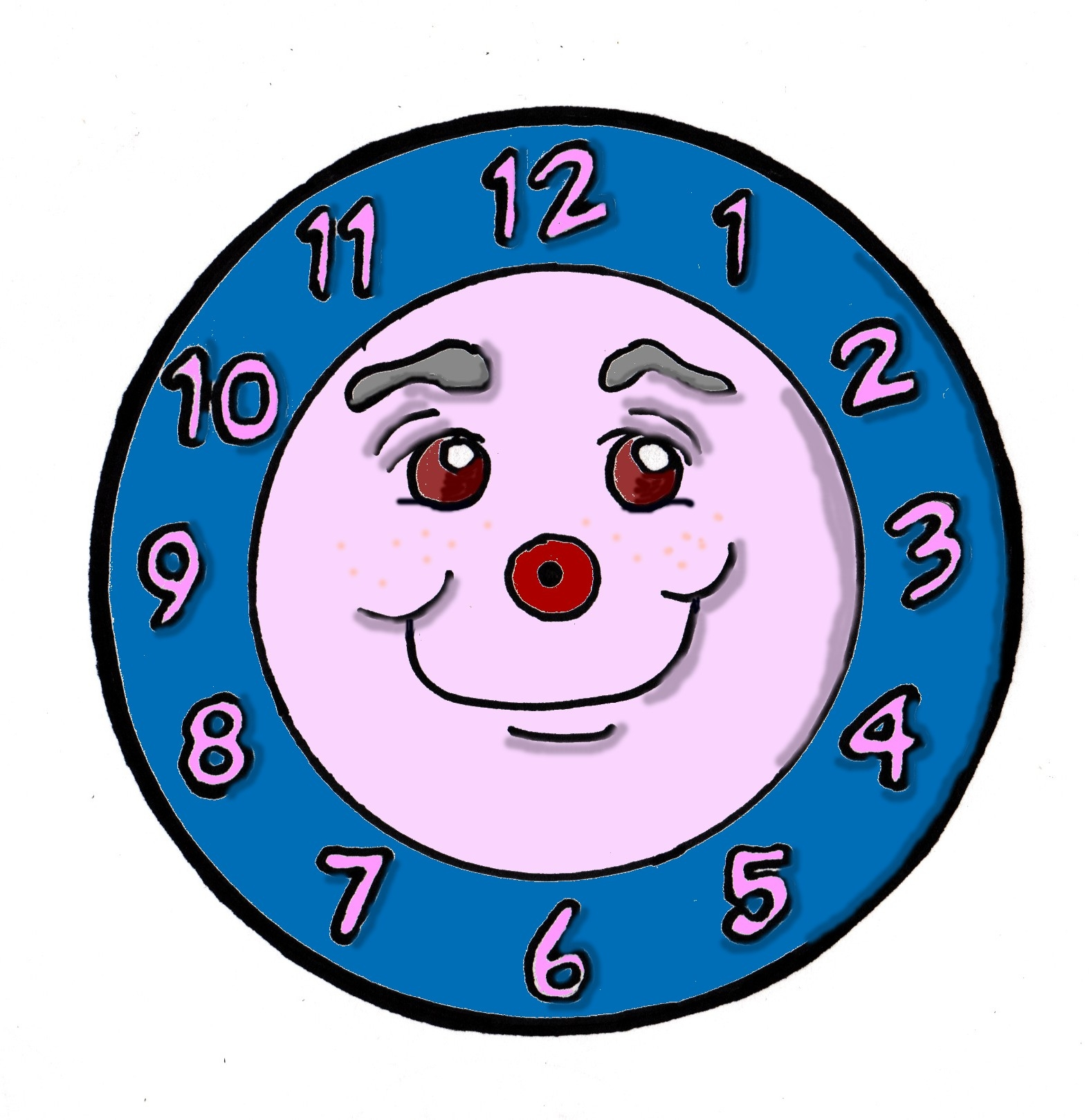 1574x1619 Clipart Clock Without Hands