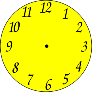 300x300 Clock Clip Art