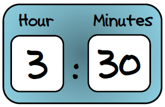 331x214 Digital Clock Clipart 600