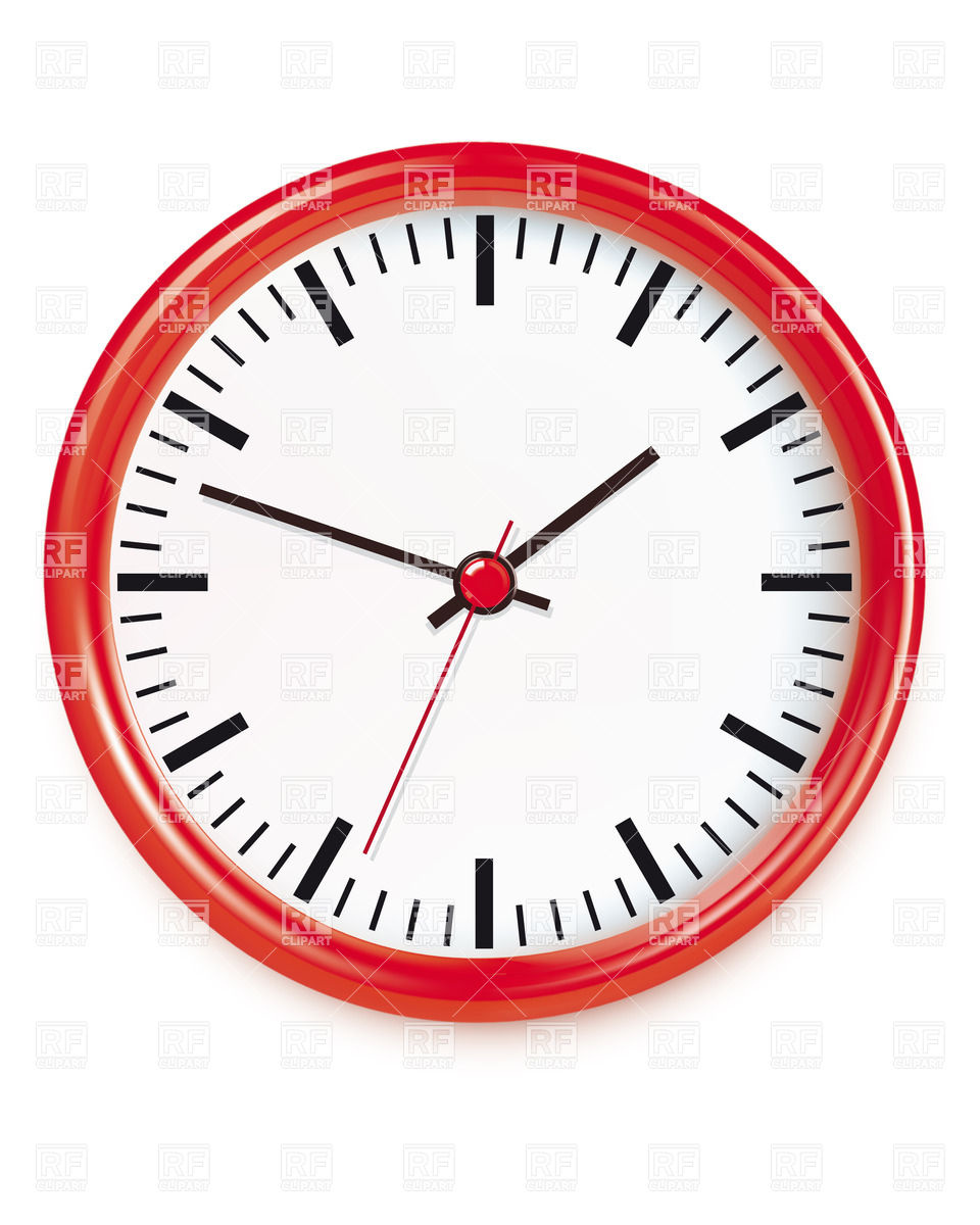960x1200 Red Wall Clocks Royalty Free Vector Clip Art Image
