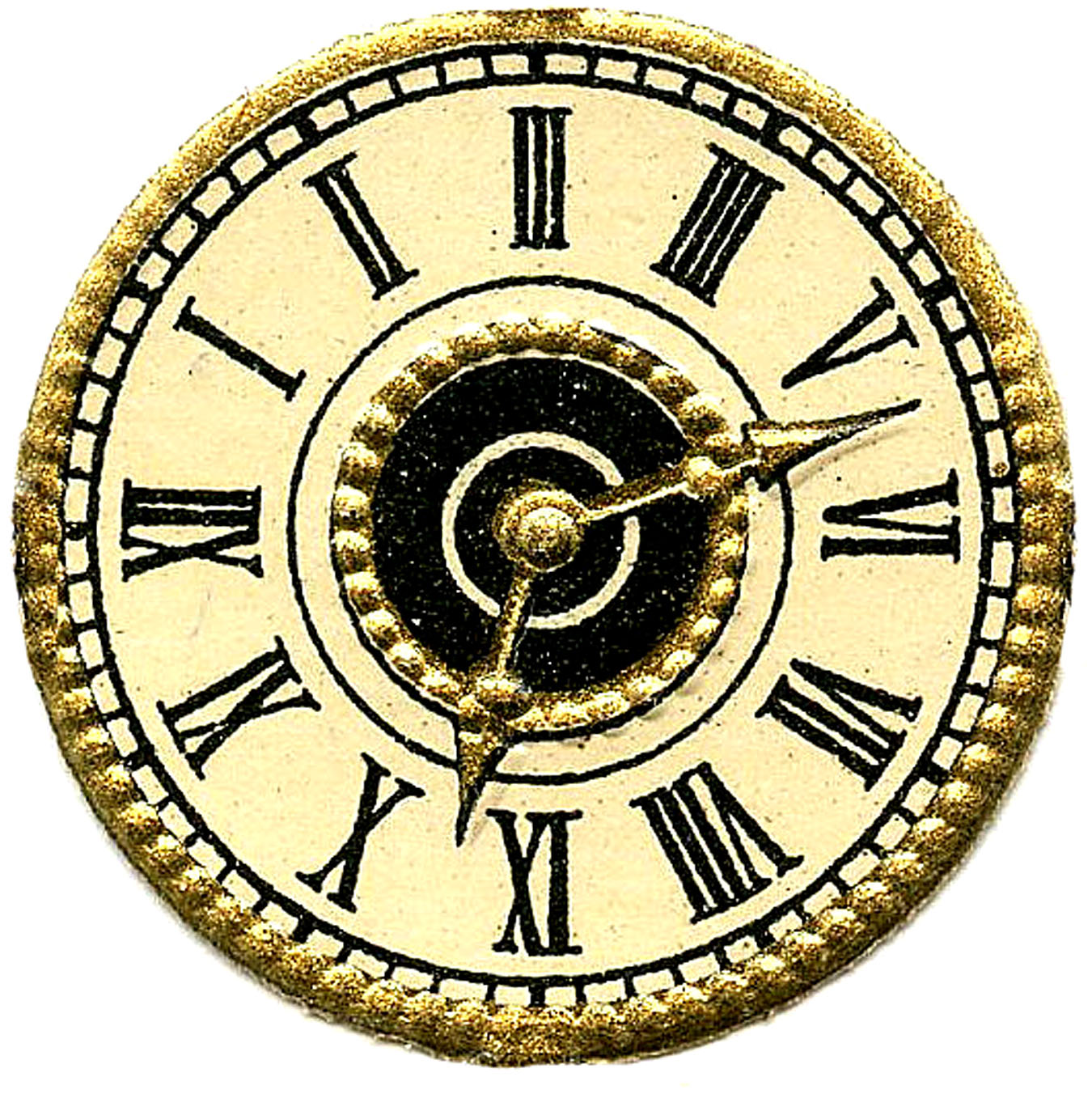 1350x1352 Antique Clock Face Clip Art