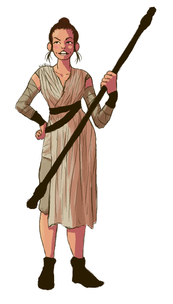 597x1045 Collection Of Rey Star Wars Clipart High Quality, Free