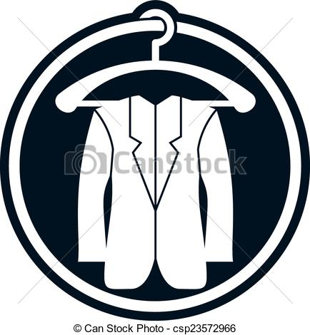 434x470 Cloth Icon, Vector Illustration Of Man Jacket. Clip Art Vector