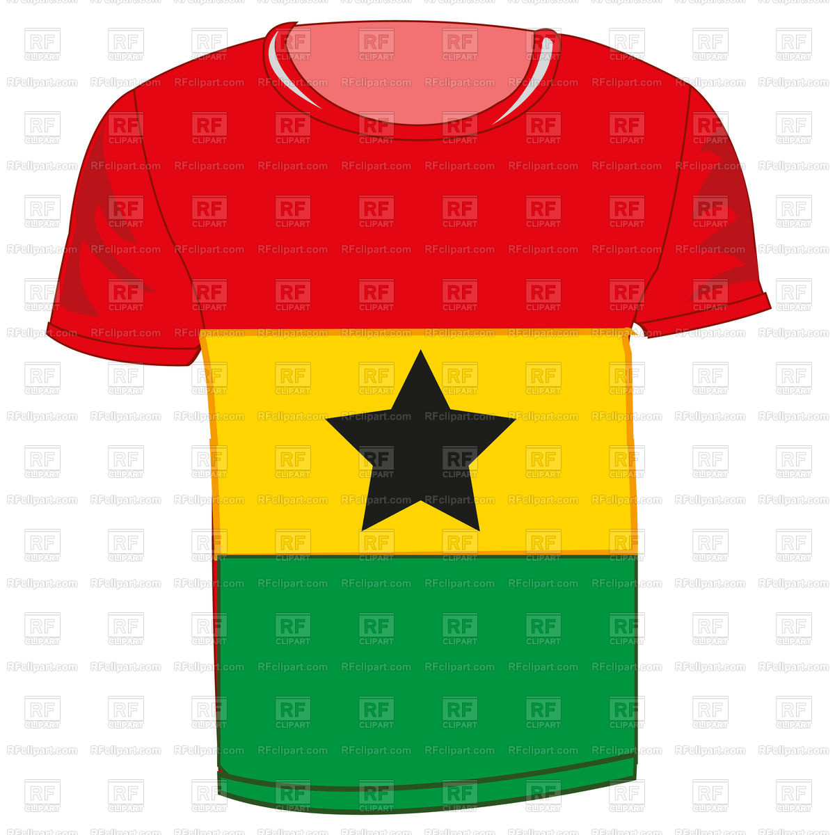 1200x1200 Cloth With Flag State Is Ghana On White Background Is Insulated