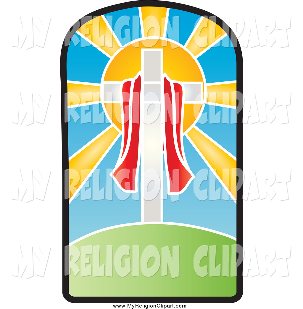 1024x1044 Religion Clip Art Of A Red Cloth Draped Around A Crucifix In Front