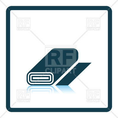 400x400 Tailor Cloth Roll Icon Royalty Free Vector Clip Art Image