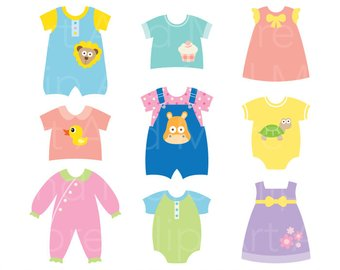 340x270 Baby Dress Clipart Baby Shower Clipart Baby Clothes Clipart