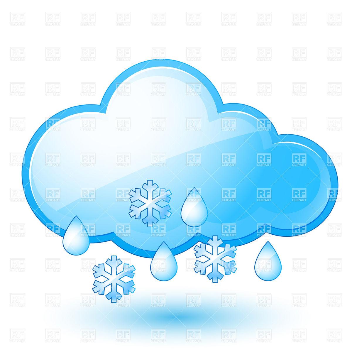 1200x1200 Snowflake Cloud Clip Art Snow Cliparts Black 2400 2300 Transprent