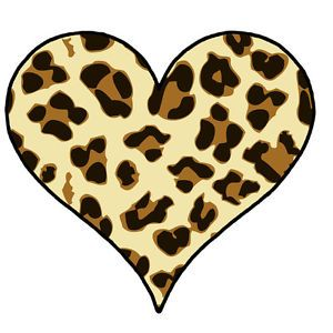 300x300 Collection Of Leopard Print Heart Clipart High Quality, Free