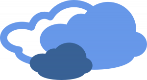 300x164 Cloudy Day Clipart Heavy Clouds Weather Symbol Clip Art