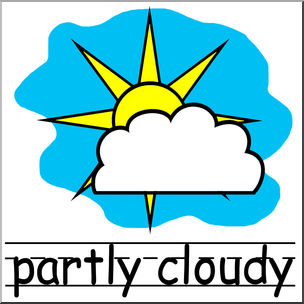 304x304 Creative Idea Partly Cloudy Clipart Weather Forecast The Png Image
