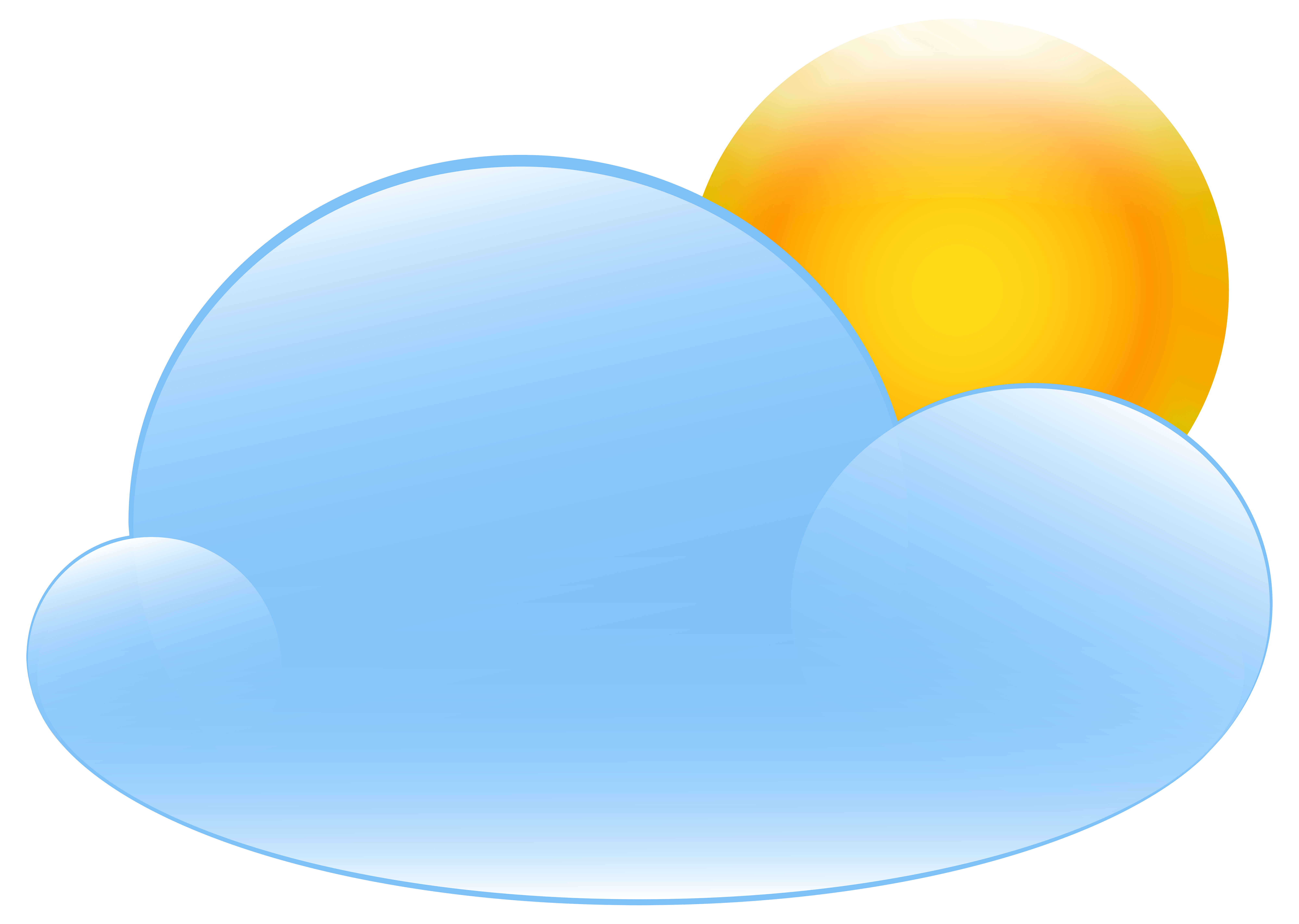 8000x5690 Partly Cloudy With Sun Weather Icon Clip Art Web Clipart