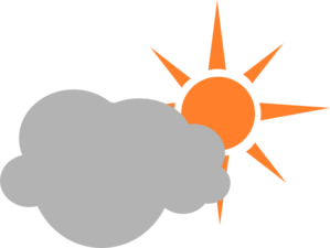 299x225 Weather Symbol Semicloudy Day Clip Art