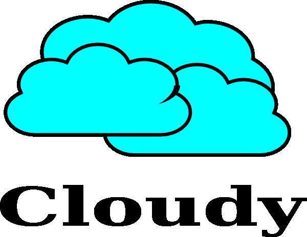 600x464 Cloudy Clip Art