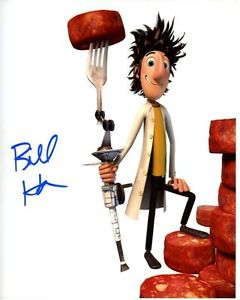 240x300 Bill Hader Signed Cloudy With A Chance Of Meatballs Flint Lockwood