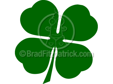 432x324 Cartoon Four Leaf Clover Clipart Four Leaf Clover Clip Art Graphics