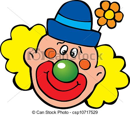 450x399 Clown. Happy Clown. Vector Art Illustration On A White Background.