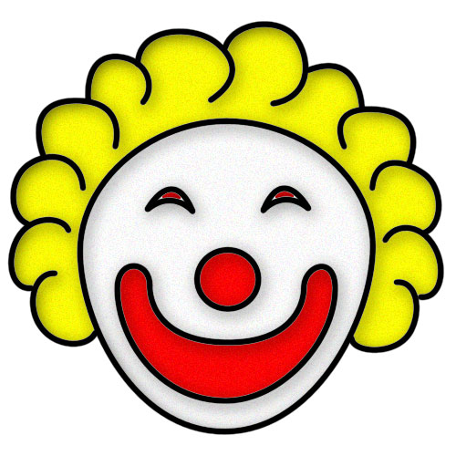 500x500 Image Of Clown Face Clipart