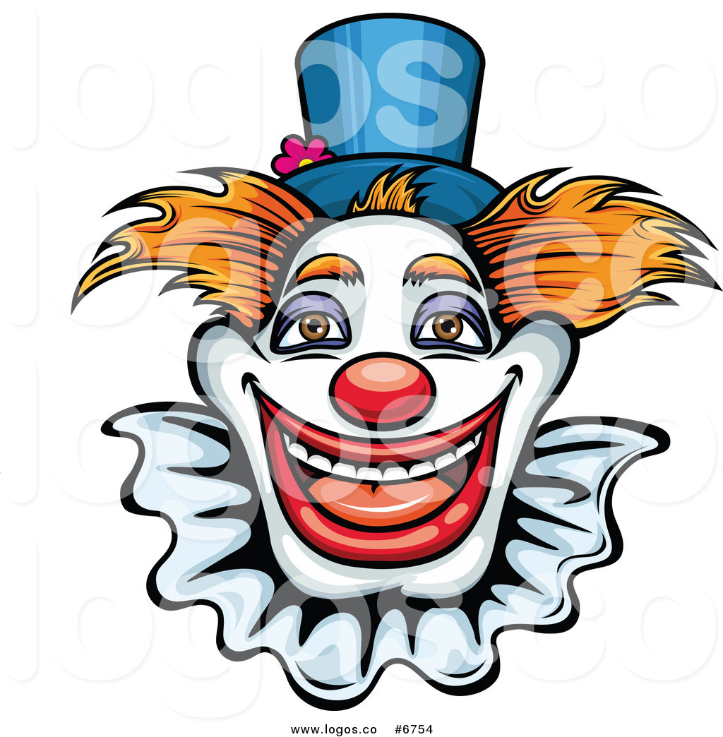 1024x1044 Royalty Free Clip Art Vector Logo Of A Happy Clown By Vector
