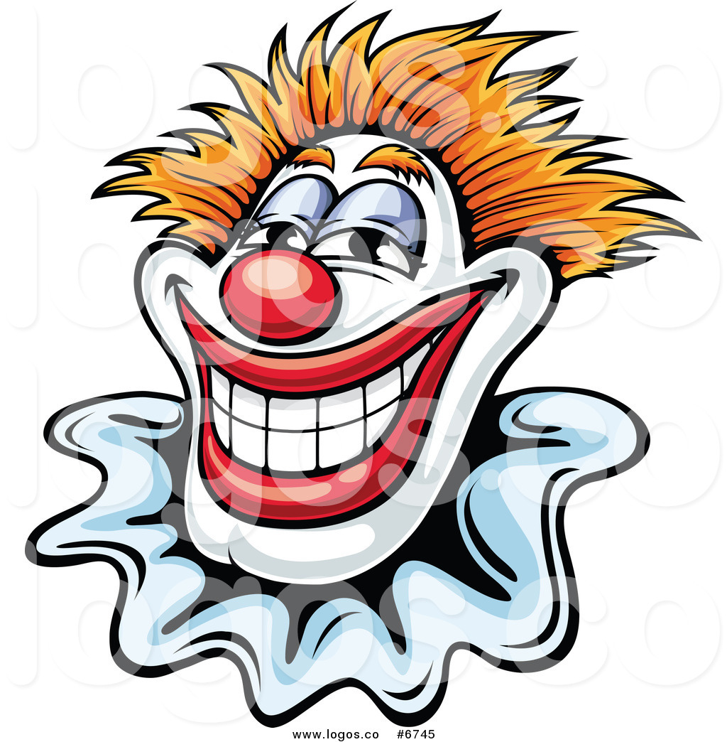 1024x1044 Royalty Free Clip Art Vector Logo Of A Smiling Clown By Vector