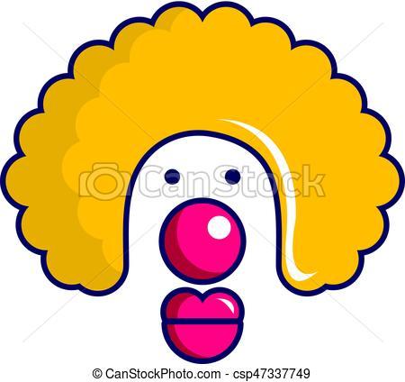 450x424 Clown Face Icon, Cartoon Style. Clown Face Icon. Cartoon Eps