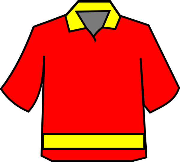 600x540 Club Shirt Redyellow Clip Art