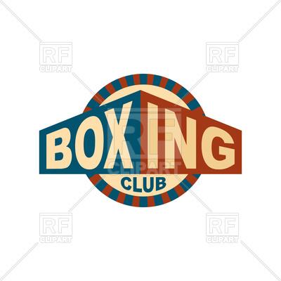 400x400 Boxing Club Emblem Design Royalty Free Vector Clip Art Image